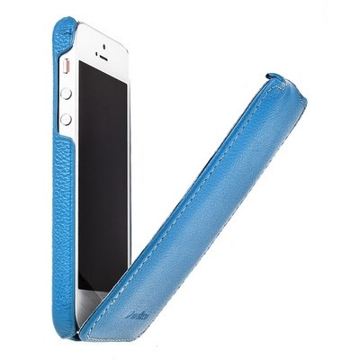 Чехол Melkco для iPhone 5 / 5s Leather Case Jacka Type голубой