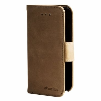 Чехол Melkco для iPhone 5c Leather Case Wallet Book Type бежевый
