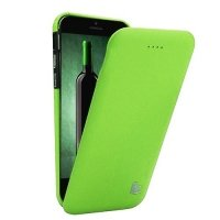 Чехол Jisoncase для iPhone 6 Genuine Flip Case зеленый