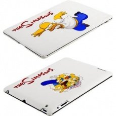 Чехол Jisoncase для iPad 4 / 3 / 2 The Simpsons белый