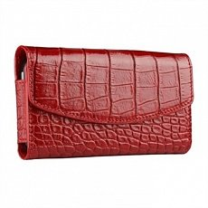 Чехол Sena iPhone 4 / 4s Bumper Wallet Croco красный