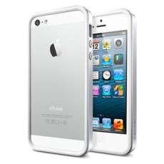 Бампер SGP для iPhone 5 / 5s Neo Hybrid EX Snow Series серебро