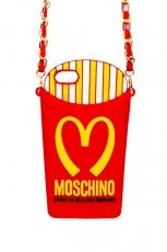 Чехол Moschino для iPhone 4 / 4S Mcdonalds French Fries Pack