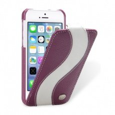 Чехол Melkco для iPhone 5c Leather Case Special Edition Jacka Type синеревый/белый