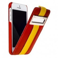 Чехол Melkco для iPhone 5 / 5s Leather Case Jacka ID Type Limited Edition красный / желтый