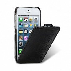 Чехол Melkco для iPhone 5 / 5s Leather Case Jacka Type Crocodile черный