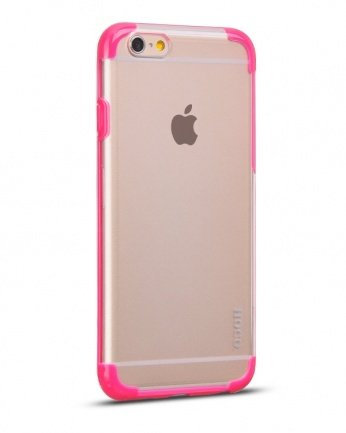 Накладка Hoco для iPhone 6 Steel series Double-Color PC TPU фуксия
