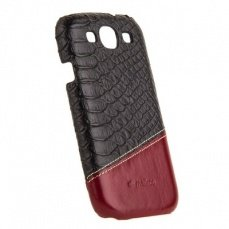 Накладка Melkco для Samsung Galaxy S3 i9300 Mix and Match Series - Black Snake Pattern/ Vintage Red