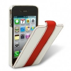 Чехол Melkco для iPhone 4 / 4s Leather Case Limited Edition Jacka Type белый / красный