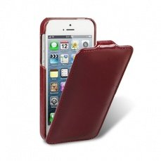 Чехол Melkco для iPhone 5 / 5s Leather Case Jacka Type гладкий бордо