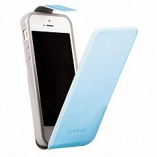 Чехол Melkco для iPhone 5 / 5s Kooso Koka Flip голубой