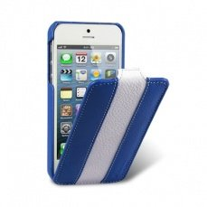 Чехол Melkco для iPhone 5 / 5s Leather Case Limited Edition Jacka Type синий / белый
