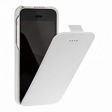 Чехол Borofone для iPhone 5с General flip Leather Case белый