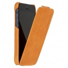 Чехол Borofone для iPhone 5 / 5s General flip Leather Case оранжевый