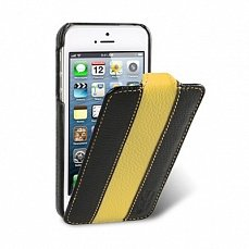 Чехол Melkco для iPhone 5 / 5s Leather Case Limited Edition Jacka Type черный / желтый