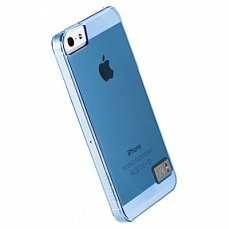 Накладка Hoco для iPhone 5 / 5s Crystal Colorful Protective Case Tran голубая