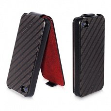 Чехол Borofone для iPhone 4 / 4s Storm Series Leather Case Cross Wind коричневый