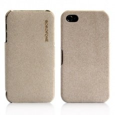 Чехол Borofone для iPhone 4 / 4s Pilot Leather Case бежевый