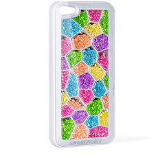 Чехол Swarovski для iPhone 5 / 5s Mozaiq Rainbow белый
