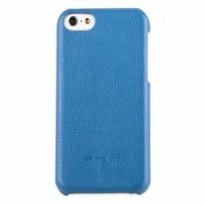 Накладка Melkco для iPhone 5с Leather Snap Cover голубая