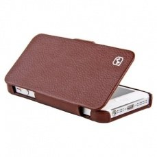 Чехол Hoco для iPhone 5 / 5s Duke folder Leather Case коричневый