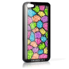 Чехол Swarovski для iPhone 5 / 5s Mozaiq Rainbow черный