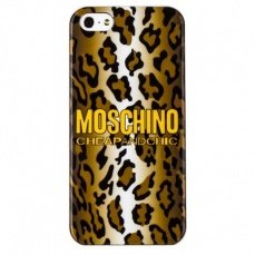 Накладка Moschino для iPhone 5 / 5s Leopard рыжая