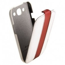 Чехол Melkco для Samsung Galaxy S3 i9300 Limited Edition Jacka Type (White / Red LC)