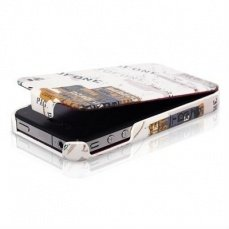 Чехол Borofone для iPhone 4 / 4s Street Leather Case бежевый