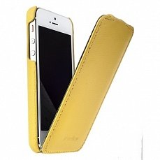 Чехол Melkco для iPhone 5 / 5s Leather Case Jacka Type желтый