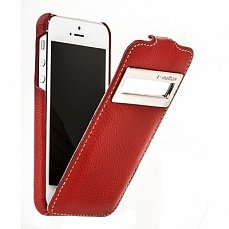 Чехол Melkco для iPhone 5 / 5s Leather Case Jacka ID Type красный