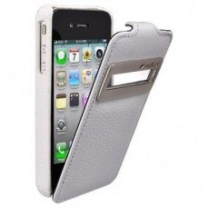 Чехол Melkco для iPhone 4 / 4s Leather Case Jacka ID Type белый