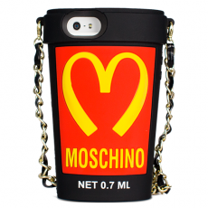 Чехол Moschino для iPhone 5 / 5s Mcdonalds Cup чёрный