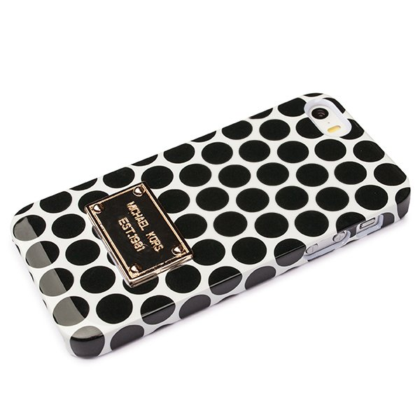 Чехол Michael Kors iPhone 5 / 5s Michael Cover type кружочки белый