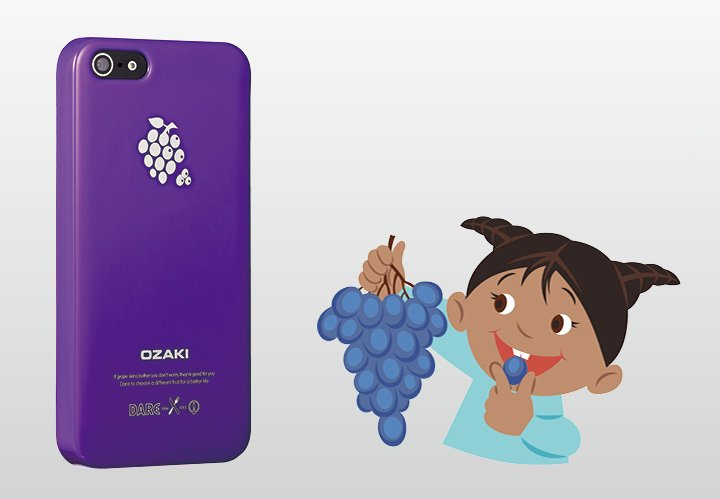Накладка Ozaki для iPhone 5 / 5s O!Coat Fruit Grape фиолетовая