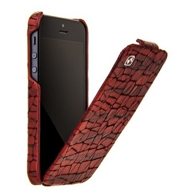 Чехол Hoco для iPhone 5 / 5s Knight Leather Case кофейный