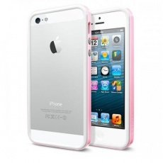 Бампер SGP для iPhone 5 / 5s Neo Hybrid EX Slim Snow Series розовый