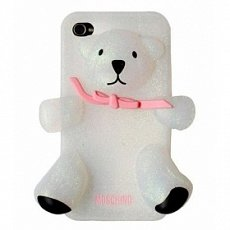 Чехол Moschino для IPhone 4 / 4s Gennarino Bear белый