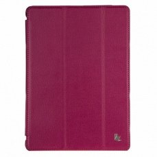 Чехол Jisoncase для iPad Air PU фуксия