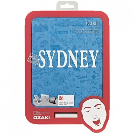Чехол Ozaki для iPad mini / Retina Travel Sydney, Australia голубой