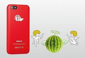 Накладка Ozaki для iPhone 5 / 5s O!Coat Fruit Watermelon красная