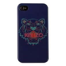 Чехол Kenzo для iPhone 4 / 4s Tiger синий