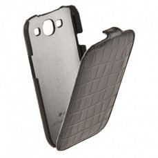 Чехол Melkco для Samsung Galaxy S3 i9300 Leather Case Jacka Type (Crocodile Print Pattern - Black)