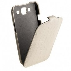 Чехол Melkco для Samsung Galaxy S3 i9300 Leather Case Jacka Type (Crocodile Print Pattern - White)