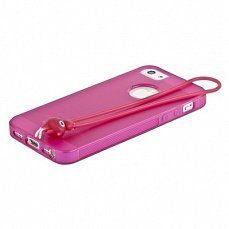 Чехол Hoco для iPhone 5 / 5s Classic TPU Crystal Case Tran фуксия