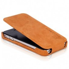 Чехол Borofone для iPhone 4 / 4s Shark Leather Case рыжий