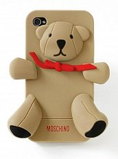 Чехол Moschino для IPhone 4 / 4s Gennarino Bear коричневый
