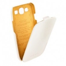 Чехол HOCO для Samsung i9300 Galaxy S3  Leather Case White