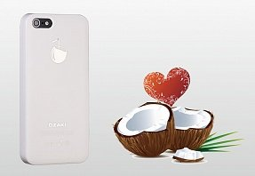 Накладка Ozaki для iPhone 5 / 5s O!Coat Fruit Coconut белая