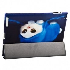 Чехол Jisoncase для iPad 4 / 3 / 2 Kitty синий